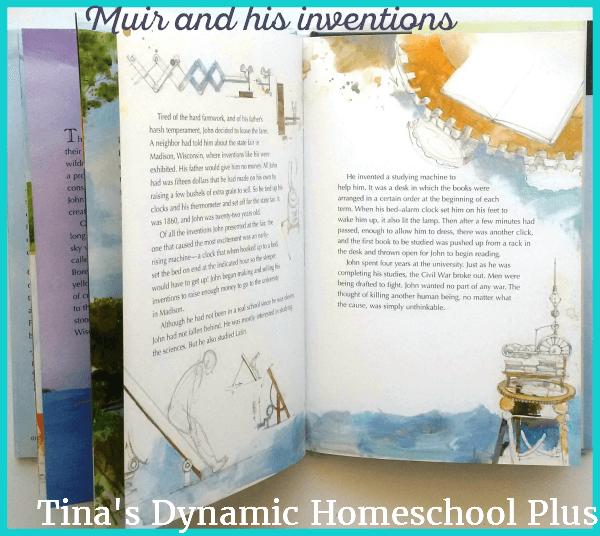 Muir and his inventions @ Tina's Dynamic Homeschool Plus. A machine which helps you to rise from bed.