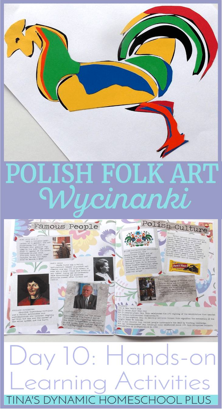 Polish Paper-Cutting. Try Polish Folk Art When Studying About Europe or doing a homeschool unit study. Day 10 of Hands-on Learning Activities @ Tina's Dynamic Homeschool Plus