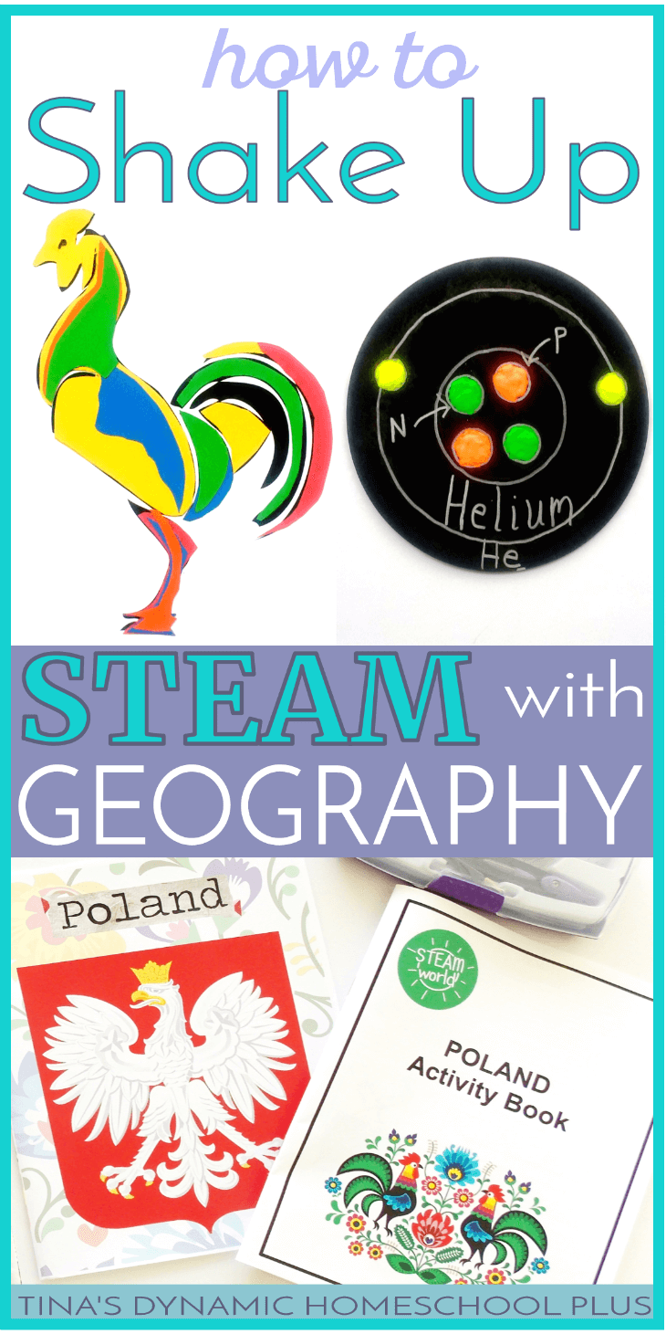 Science intimidates me, but I've always managed to teach it through one of my other strengths. I had a chance to shake up STEAM with geography. I used a country crate about Poland and used it to teach STEAM with geography, history and hands-on activities as a unit study. I love pick up and go resources that have everything in a crate that makes teaching STEAM and geography easy. Click here to read about it and grab it!