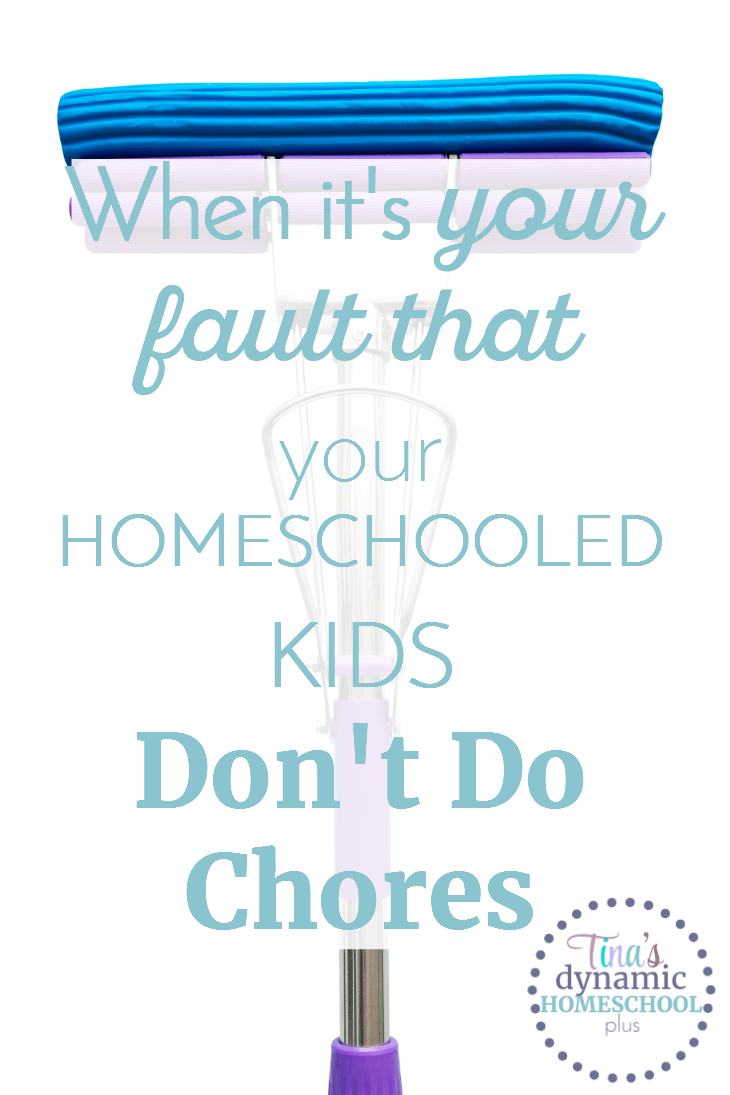 When the kids were young, I made chore charts, taught them how to clean, and made them do it. I've never been the kind of parent that gives up easily and does the chores myself. How did it become my fault now? Click here to read what happened AND how I changed it!