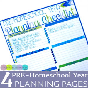 4 PRE-Homeschool Year Planning Pages (and tips to use them)