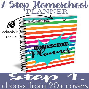 Two Unique Editable Homeschool Planner Covers!