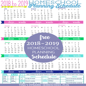Free 2018-2019 Year Round Homeschool Planning Form (Tropical Breeze Color)