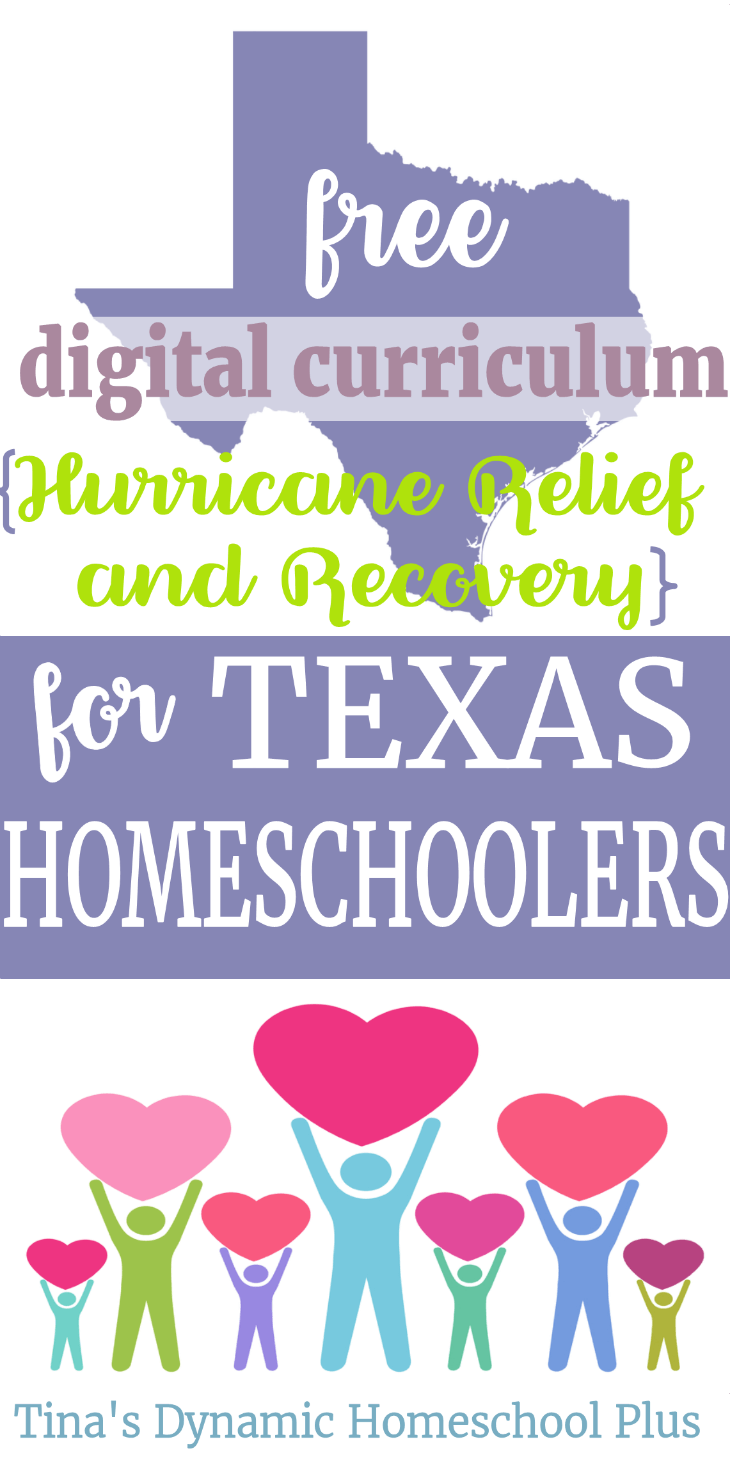 If you are a Texas homeschooler affected by Hurricane Harvey, then grab the free digital curriculum at this roundup. Please help me to spread the word to those that need it. #houstonstrong