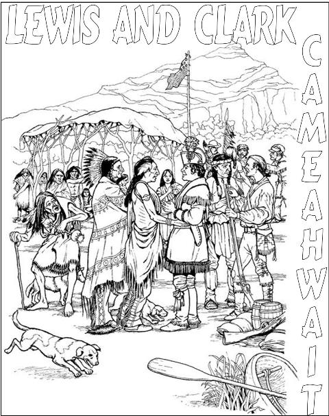 lewis and clark coloring pages - sacagawea printable coloring pages