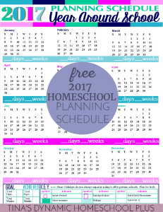 2017 Year Around Homeschool Planning Schedule Mist Color Option 231X 300 @ Tina's Dynamic Homeschool Plus