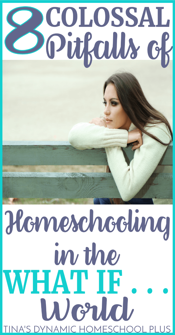 "The pitfalls of homeschooling are plenty if you let them sidetrack you from your vision. Instead of losing vision, hone your goals. High levels of confidence, conviction, and fortitude wane easily and can be completely sucked out of us if we enter the ""what if . . ."" world of homeschooling. Look at these potential 8 colossal pitfalls, if you let them. Click here."
