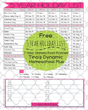 Holidays Listed 2015 to 2019 passion pink 300x375