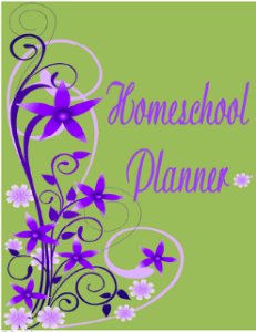 Purple Green Spring Cover - 7 Step Homeschool Planner @ Tina's Dynamic Homeschool Plus 231 X 300