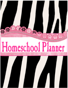 Zebra Cover 7 Step Homeschool Planner @ Tina's Dynamic Homeschool Plus 231 X 300