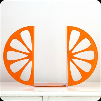 orange slices bookend