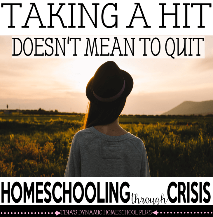 Taking a Hit Doesn't Mean to Quit - Homeschooling Through Crisis @ Tina's Dynamic Homeschool Plus