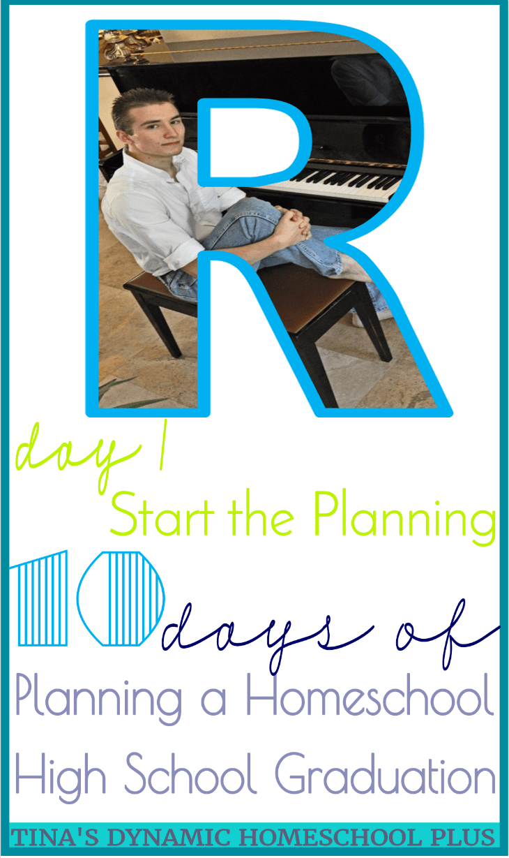 10 days of Planning A Homeschool High School Graduation: Day 1 Start the PlanningHow do I put all my plans, fears, successes, failures and momentary lapses of insanity in one blog post? I can't. Instead, I will share 10 days of planning a homeschool high school graduation so that not IF, but when your turn comes, you will have a place to start.Click here to get tips from a seasoned homeschool mom!