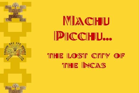 South America Machu Picchu