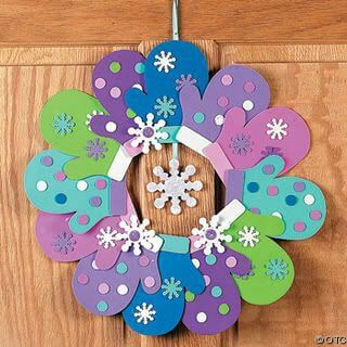 mitten wreath
