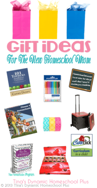 Gift Ideas for the New Homeschool Mom @ Tina's Dynamic Homeschool Plus -1-1