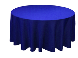 royalblue table cloth homeschool graduation party