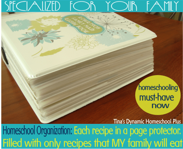 Homeschool Organization - Specialized Recipe Binder for Your Family Now