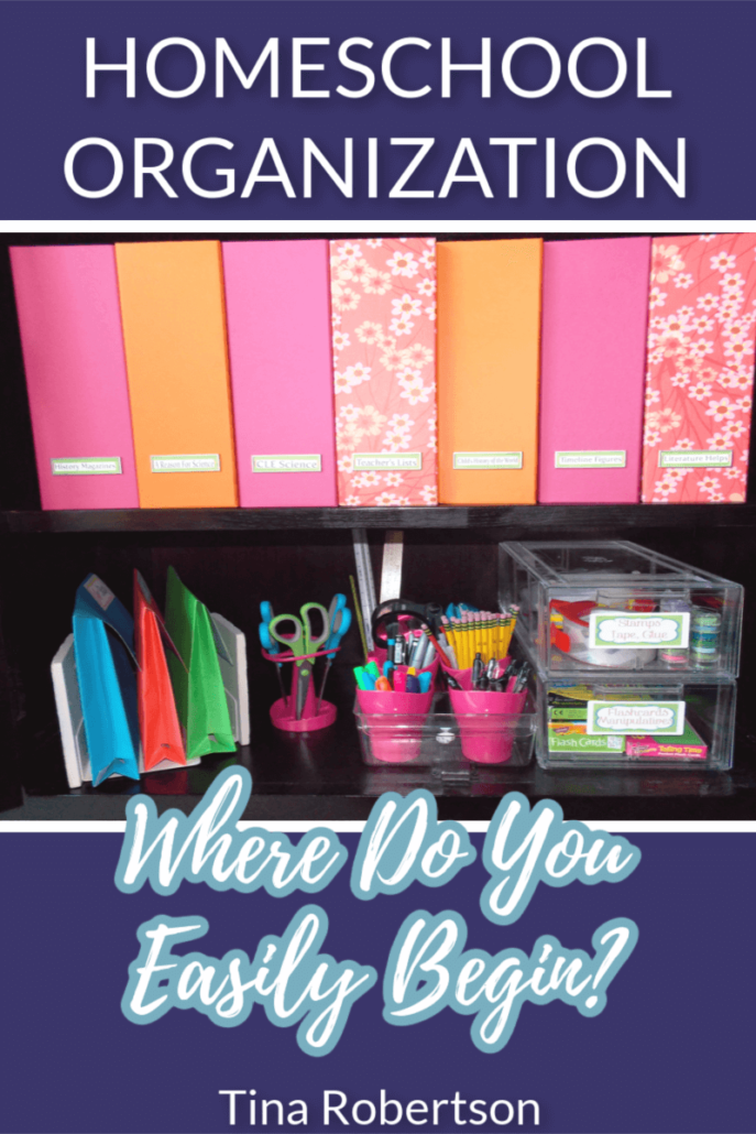 Homeschool organization is flat out hard work. On top of that tons of organization books and blogs stand ready to take up our precious time. The problem with most organizational books is that the tips are normally based on the fact you have all day to organize. If you already struggle with a starting point on organization then sorting out beneficial tips from hype is not easy. CLICK here to read about homeschool organization tips for beginners!
