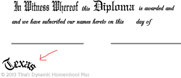 Instructions for Homeschool Diploma 3