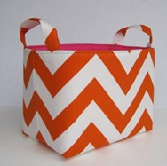 Orange Chevron Basket