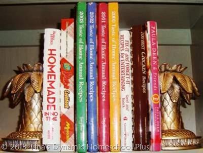 Recipe Books Left over after homeschool organization purge
