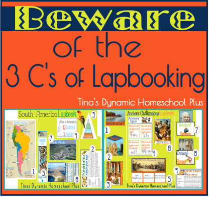 Beware of the 3 C's of Lapbooking