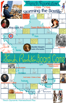 French Revolution Game - French Revolution Unit Study @ Tina's Dynamic Homeschool Plus