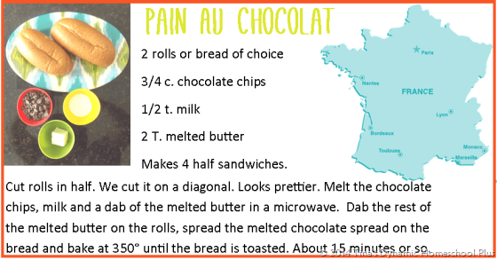 Recipe Pain Au Chocolat from France