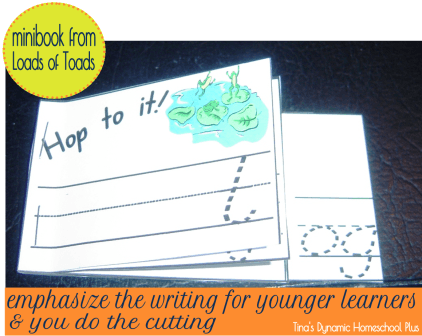 minibooks - emphasize the writing and not the scissor cutting