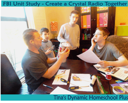Make a crystal radio out of an oatmeal box to go along with a FBI Unit Study @ Tina's Dynamic Homeschool Plus