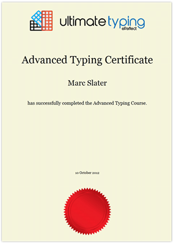 learn how to type typing certificate
