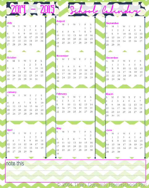 Free academic school calendar 2014 2015 for 2104 calendar template