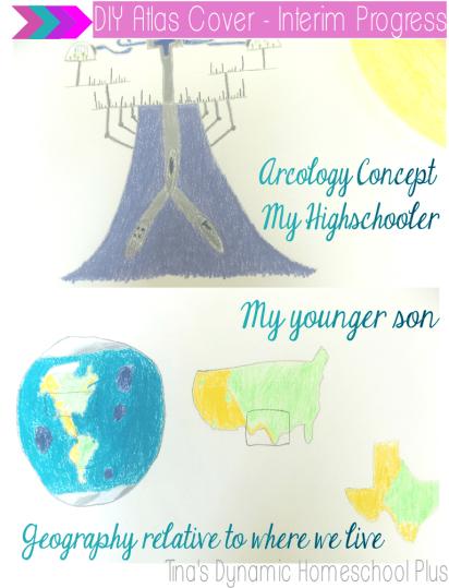 DIY Atlas Cover Homeschool Geography