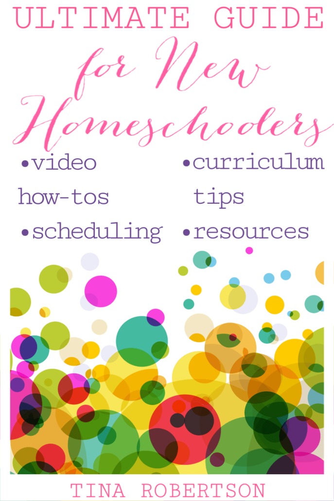 The Ultimate Guide for New Homeschoolers by Tina Robertson. A homeschool mom of 20 years experience AND who taught workshops for years to new homeschoolers. Don't Miss this!