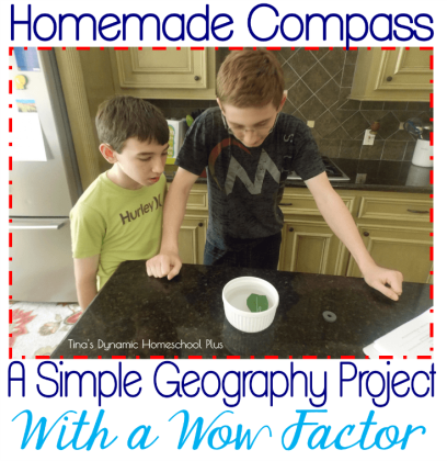 Homemade Compass - Simple Geography Project With a Wow Factor