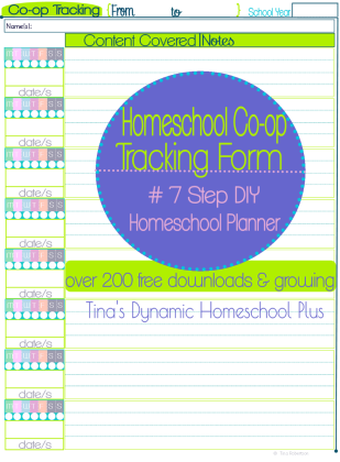 Homeschool Co-op Tracking Form