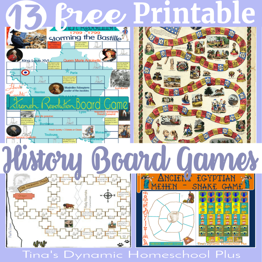 13 Free And Fun Best Printable History Board Game