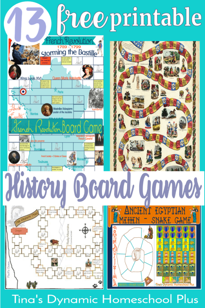 13 Free History Printable Board Games. Looking for a way to make history exciting in your homeschool? CLICK HERE! You'll love these AWESOME games!