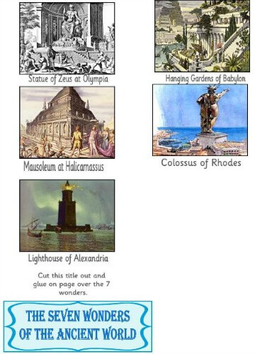 7 Wonders of the Ancient World minibook @ Tina's Dynamic Homeschool Plus