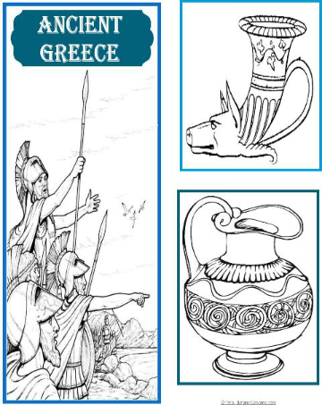 Ancienct Greece Cover 2 for Ancient Greece Lapbook @ Tina's Dynamic Homeschool Plus