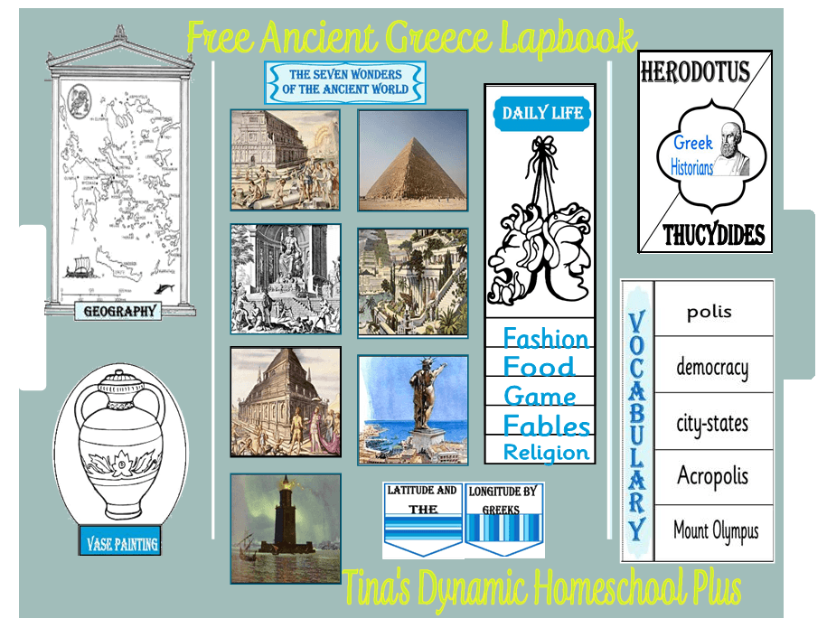 Ancient Greece Lapbook | Tina's Dynamic Homeschool Plus