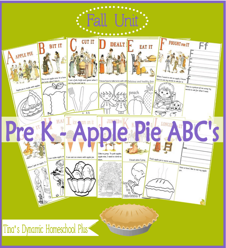 Apple Pie Alphabet and Free Apple Unit Study With Lapbook @ Tina's Dynamic Homeschool Plus