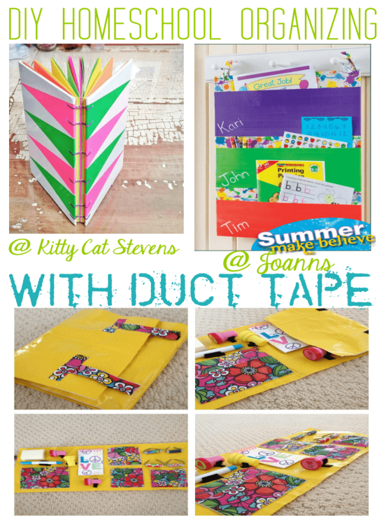 DIY Homeschool Organizing With Duct Tape