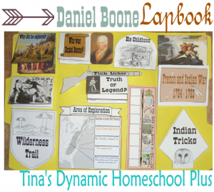Daniel Boone lapbook and homeschool unit study.