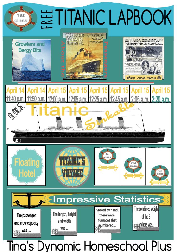 RMS Titanic Unit Study and Free Lapbook