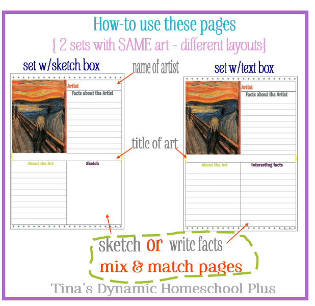 How to Use - Art Notebooking Pages 1