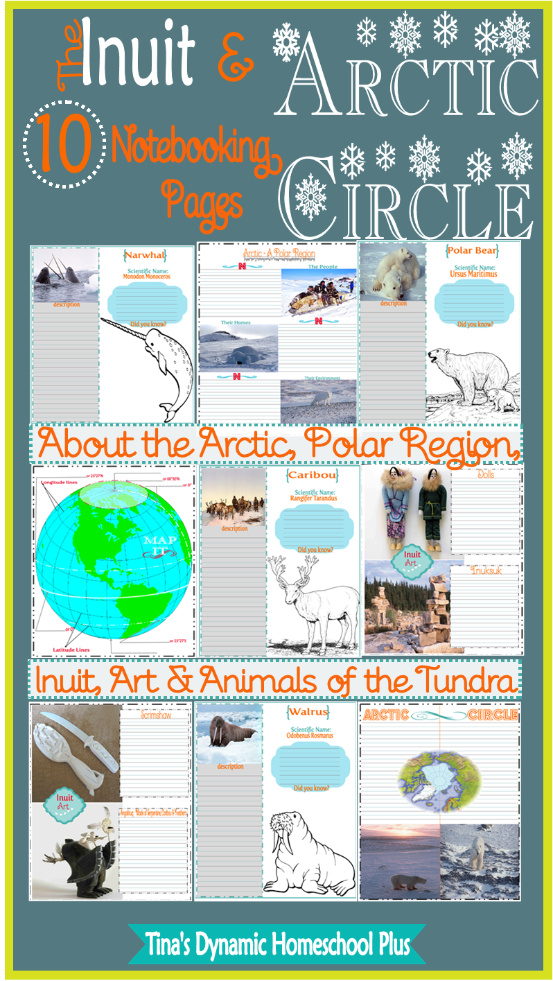 Inuit Notebooking Pages @ Tina's Dynamic Homeschool Plus