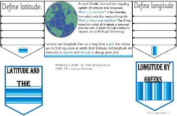 Latitude and Longitude by the Ancient Greeks Minibook @ Tina's Dynamic Homeschool Plus