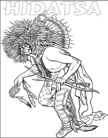 Lewis & Clark Coloring Hidatsa